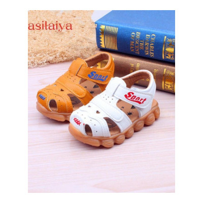 yasilaiya夏季寶寶涼鞋1-3歲男童防滑軟底包頭嬰兒學步兒童小童沙灘鞋