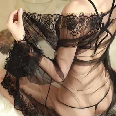露黛茜2020春夏性感睡衣女秋情趣內衣蕾絲內褲鏤空比基尼開檔騷透視裝大碼女士透明制服露乳極度誘惑夜店激情套裝絲襪成人用品