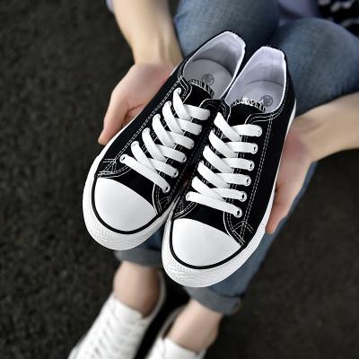 中大童休閑透氣鞋帆布鞋低幫童鞋春秋款系帶小男童女童板鞋大童球鞋