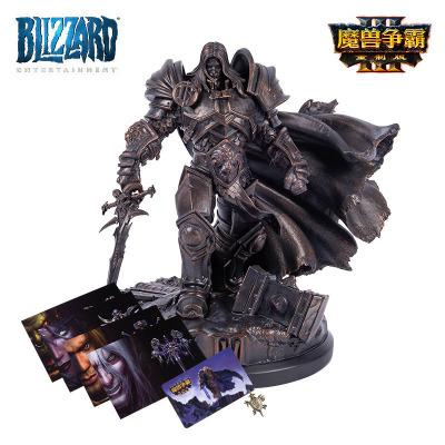 暴雪 《魔兽争霸III:重制版》典藏版实体礼包 阿尔萨斯雕像礼盒