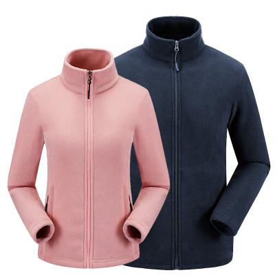 翰達山男士新款抓絨衣外套女保暖開衫外套戶外服裝加絨外套