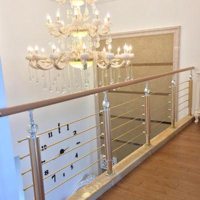 樓梯扶手護欄欄桿別墅室內簡約現代不銹鋼圍欄閃電客鋁合金北歐家用復式 5號玫瑰晶一米價格