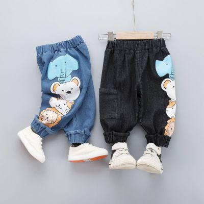 寶寶春秋牛仔褲1-4歲新款小童男褲子女嬰幼兒2春秋兒童運動褲潮4 臻依緣