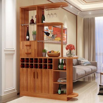 現代簡約酒柜隔斷柜進門客廳藤印象間廳柜裝飾雙面柜屏風柜門廳柜玄關柜