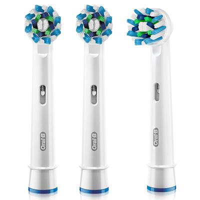 歐樂B(Oralb)電動牙刷頭 3支裝 多角度清潔型 適配成人2D/3D全部型號 EB50-3 德國進口