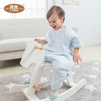 良良(liangliang)婴儿睡袋宝宝睡袋秋冬加厚防踢被新生儿分腿厚款儿童纯棉(0-3岁)M码85cm两色)
