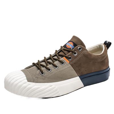 Dickies低幫帆布鞋男韓版潮流百搭板鞋秋季新款系帶學生休閑鞋子193M50LXS3B