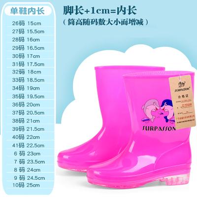 1-12歲兒童雨鞋男童卡通寶寶女童雨靴小孩水鞋果凍鞋童鞋膠PVC