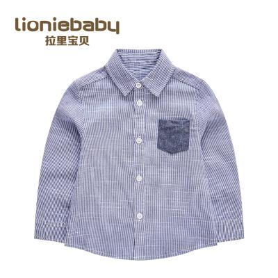 拉里寶貝Lioniebaby童裝兒童襯衫寶寶時尚休閑長袖襯衫2020春裝新款男童L01WS012