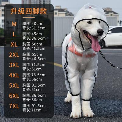 狗狗雨衣大型犬中型犬全包拉布拉多金毛寵物大狗衣服四腳防水雨披