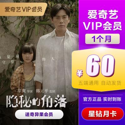 愛奇藝vip會員 星鉆會員 1個月月卡 視頻會員充值 (支持TV端)送奇異果會員