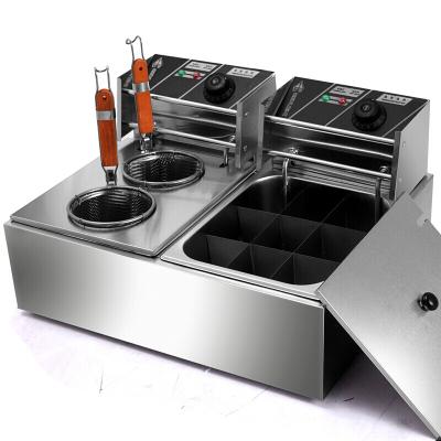 9格关东煮机器连煮面炉商用麻辣烫机串串香丸子机小吃设备户外