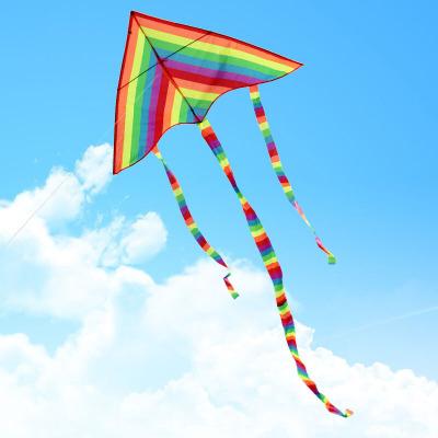 彩條風箏三角彩虹通風箏圖片色