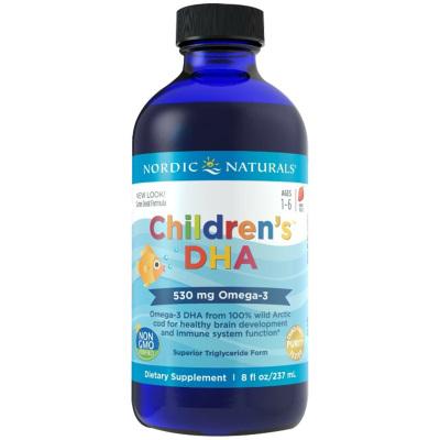 挪威小鱼(Nordic Naturals)儿童深海鳕鱼肝油237ml/瓶装(草莓味)12个月以上 美国进口