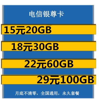 中国电信流量卡4g全国纯流量卡全国不限量无线上网卡不限流量0月租全国无限流量上网卡电信流量卡全国通用不限速手机电信银尊卡