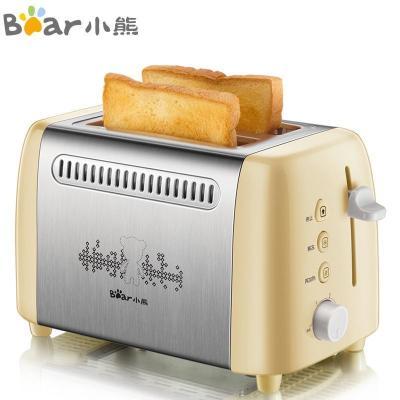 小熊(Bear)烤面包機 迷你家用多士爐 2片吐司機早餐機 全自動多功能土司解凍加熱烘焙不銹鋼 DSL-A02W1