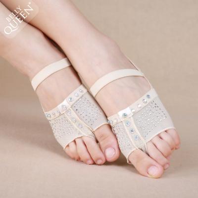舞娘肚皮舞鞋子脚掌套舞蹈护脚半掌脚套芭蕾舞体舞蹈练功脚掌套
