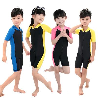 【送泳帽】學生訓練兒童泳衣大中小童連體游泳衣男女童寶寶泳裝 莎丞
