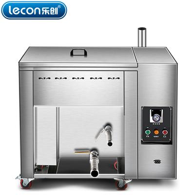 lecon乐创 燃气台式30升油水分离油炸锅商用燃气煤气单缸炸炉大容量温控油条机电炸锅