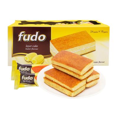 馬來西亞進口福多Fudo奶油夾心蛋糕432g*2盒 元氣早餐點心零食品
