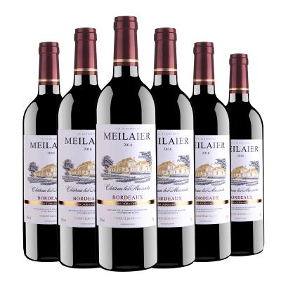 法國原瓶進口 美萊爾干紅紅葡萄酒13度750ml*6瓶 【整箱裝】