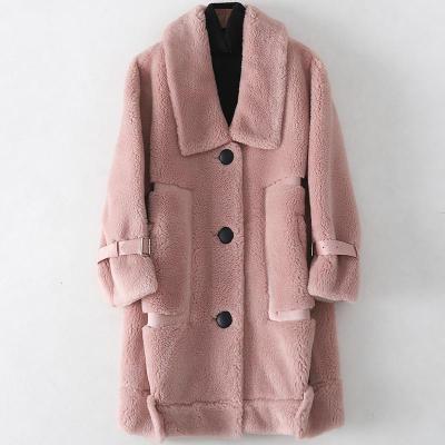 憨厚皇后2019冬季新款羊毛皮大衣女士时尚复合皮毛一体外套