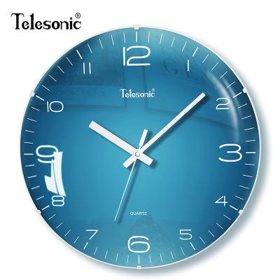 天王星(Telesonic)北歐靜音掛鐘客廳家用鐘表創意裝飾時鐘現代簡約大氣墻鐘個性藝術石英鐘表掛表