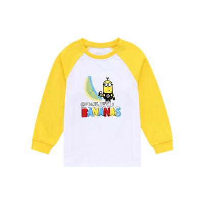 小黄人IP款小猪班纳童装男幼童长袖T恤2019男童T恤男宝宝圆领针织衫