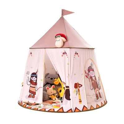 兒童帳篷卡通圖案游戲屋 室內家用嬰兒寶寶印第安小馬城堡玩具屋 女孩公主房