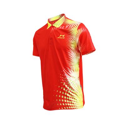 HEALTH海爾斯 PW3001 男女款乒乓球服 比賽運動服 吸濕排汗翻領短袖衫