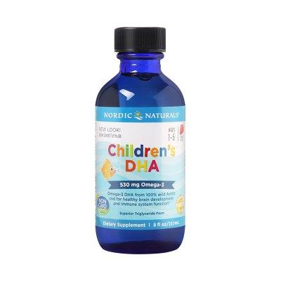 美国Nordic Naturals挪威小鱼DHA进口鱼油儿童宝宝婴儿补脑记忆力婴幼儿鳕鱼肝油237ml/瓶装