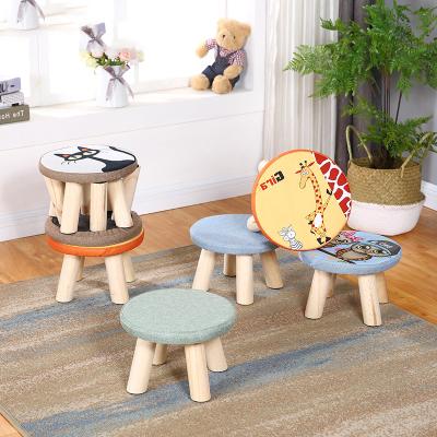 小凳子實木家用小椅子時尚換鞋凳圓凳成人沙發凳矮凳子莊子然簡約現代木質客廳臥室創意小板凳
