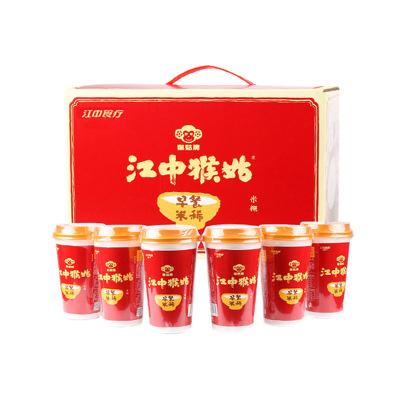 江中猴姑國產五谷營養品早餐速食代餐米糊6杯/40g盒裝猴姑米稀代餐麥片 MIXI 沖調沖飲米稀帶煉乳含糖