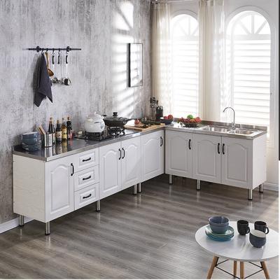 不銹鋼灶臺柜簡易櫥柜家用經濟型組裝廚房水槽柜洗碗柜子餐邊柜