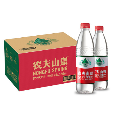农夫山泉天然水550ml*24 箱装 饮用水