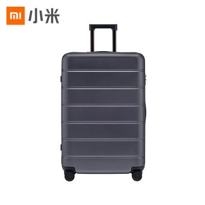 小米(MI)拉杆箱 高弹性万向静音轮旅行箱 TSA海关锁简约商务登机箱 28英寸 灰色