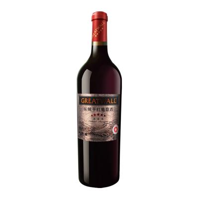 【官方旗艦店】長城五星赤霞珠干紅葡萄酒750ml 星級系列 沙城產區 中糧直營紅酒