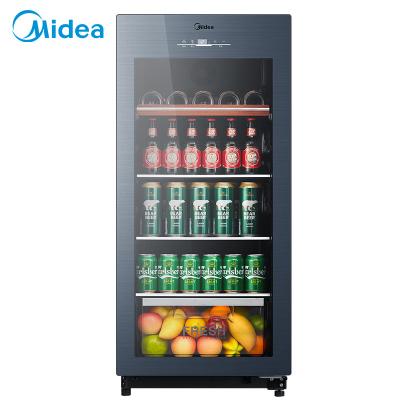 美的(Midea)JC-140GEM 家用恒溫紅酒柜冰吧冷藏雪茄酒柜玻璃冰柜