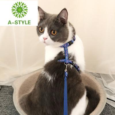 貓咪專用牽引繩 防掙脫胸背帶溜貓繩 牽引帶貓繩子貓牽引遛貓鏈子
