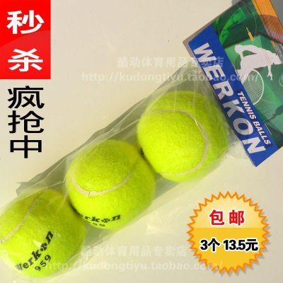 搭啵兔 3個 正品雙人對打網球練習球耐打網球專業比賽訓練球