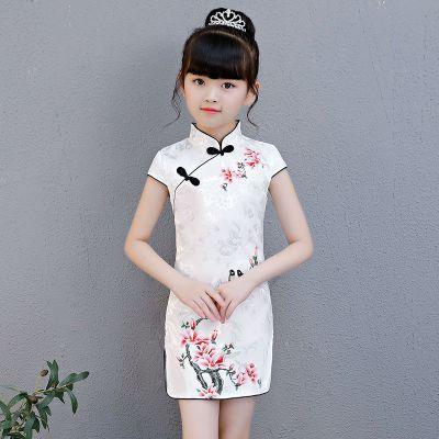 女童旗袍連衣裙夏裝2020新款女孩古典中國風公主裙女童 莎丞