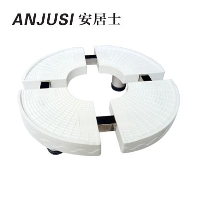 帮客材配 安居士空调柜机底座B款 材质:PP塑料 规格:圆形 单价:52.5元/个,10个/箱 4箱免邮 送货楼下