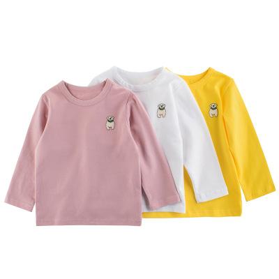 童裝秋冬新款2020男童長袖T恤 兒童打底衫寶寶衣服元氣小猴STRONG MONKEY