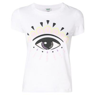 【直营】Kenzo高田贤三 女士大眼睛logo全棉圆领短袖T恤 F952TS7334YD
