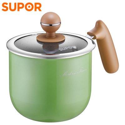 苏泊尔(SUPOR)迷色系列奶锅 泡面锅 明火专用 ET14JAP01-V 14cm绿色