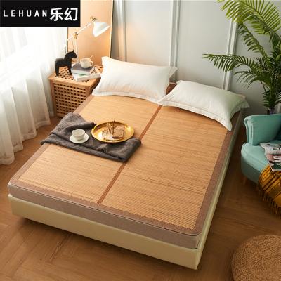 乐幻(LEHUAN)家纺 夏季碳化双面竹席 可折叠生态双面席纯色1.8米凉席宿舍单双人竹凉席可折叠席子1.5米床席藤席