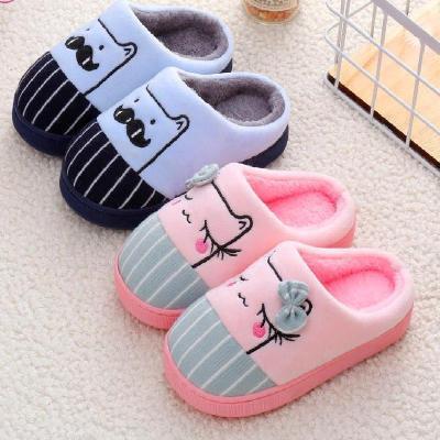 儿童棉拖鞋可爱男女童小孩保暖棉鞋卡通厚底防滑拖鞋一家三口棉拖 威珺