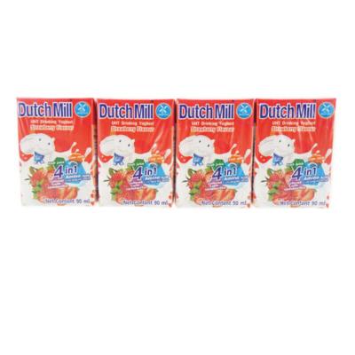 達美DutchMill草莓味90ml×8盒裝果味早餐下午茶學生宵夜酸奶營養乳制品