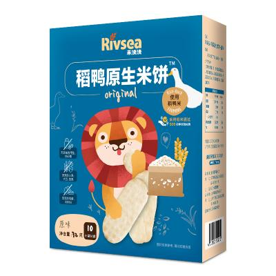 禾泱泱(Rivsea)宝宝零食无添加白砂糖盐稻鸭米饼原味32g儿童辅食磨牙棒饼干