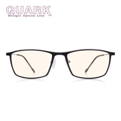 夸克(QuarK)美国黑色素超轻防蓝光眼镜男士日夜两用防电脑辐射眼镜电竞游戏防近视无度数眼镜女士磨砂103黑色
